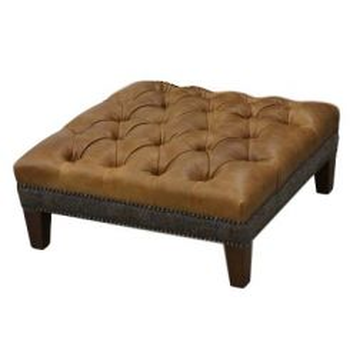 Carlton Furniture Footstool Kensington in Brown Leather
