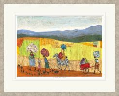 Pavilion Art The Weekly Wash, Chipata by Sam Toft - Limited Edition Framed Print