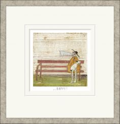 Pavilion Art This Bench May Make You Happy! By Sam Toft - Limited Edition Framed Print