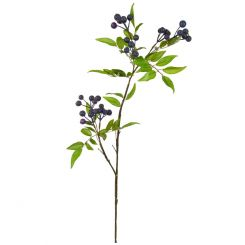 Pavilion Flowers Artificial Foliage Berry Spray Burgundy Height 91cm