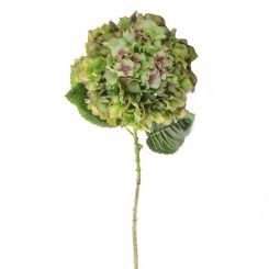 Pavilion Flowers Artificial Hydrangea Large Green/Pink Height 101cm