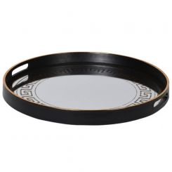 Pavilion Chic Tray Mirrored Calgary - Black