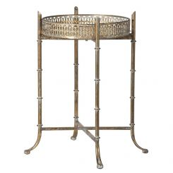 Pavilion Chic Tray Table Ethel Small In Distressed Gold