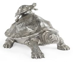 Jonathan Charles Turtle Figurine Box with Hatchling