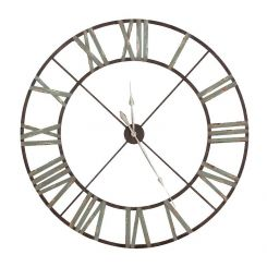 Pavilion Chic Wall Clock Tarrin in Wrought Iron