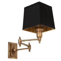 Eichholtz Wall Lamp Lexington Swing Including pleated black shade