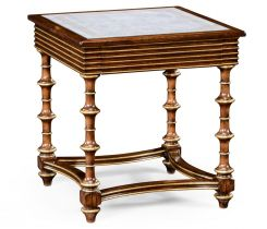 Jonathan Charles Side Table Eglomise & Walnut