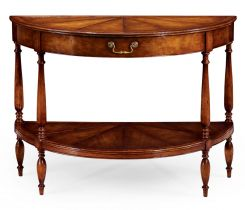 Jonathan Charles Demilune Console Table Monarch