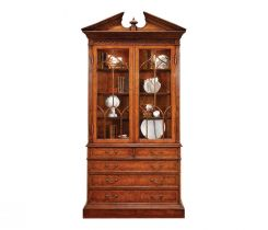 Jonathan Charles Display Cabinet with Drawers George II in Walnut