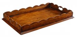 Jonathan Charles Serving Tray Cottage with Scalloped Edge