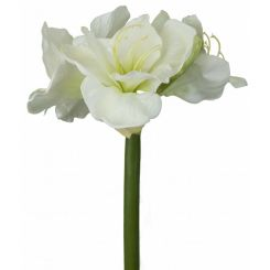 Pavilion Flowers Artificial Amaryllis Spray White Height 68cm