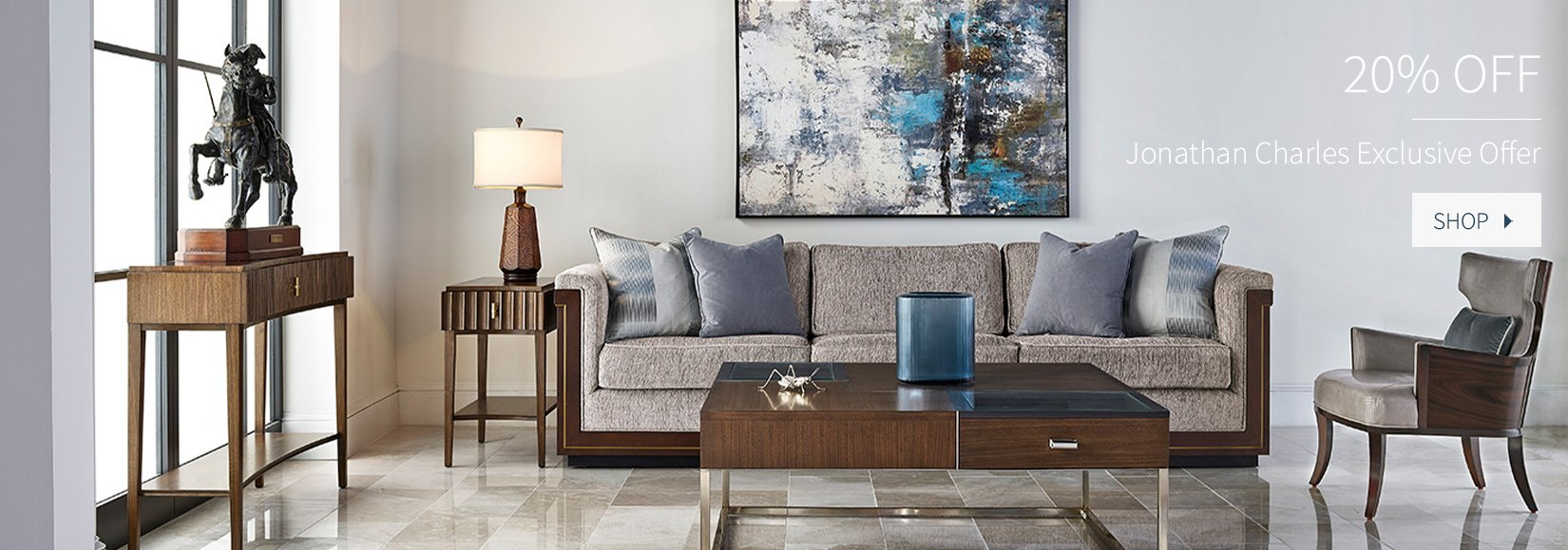 20% Off Jonathan Charles Fine Furniture