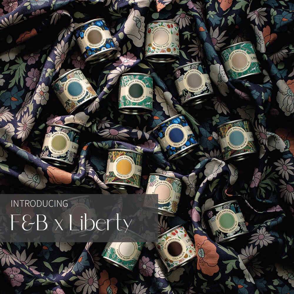 Farrow and Ball curated by Liberty